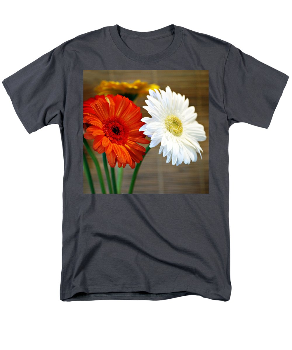 Flower Men's T-Shirt (Regular Fit) featuring the photograph Gerbers by Marilyn Hunt