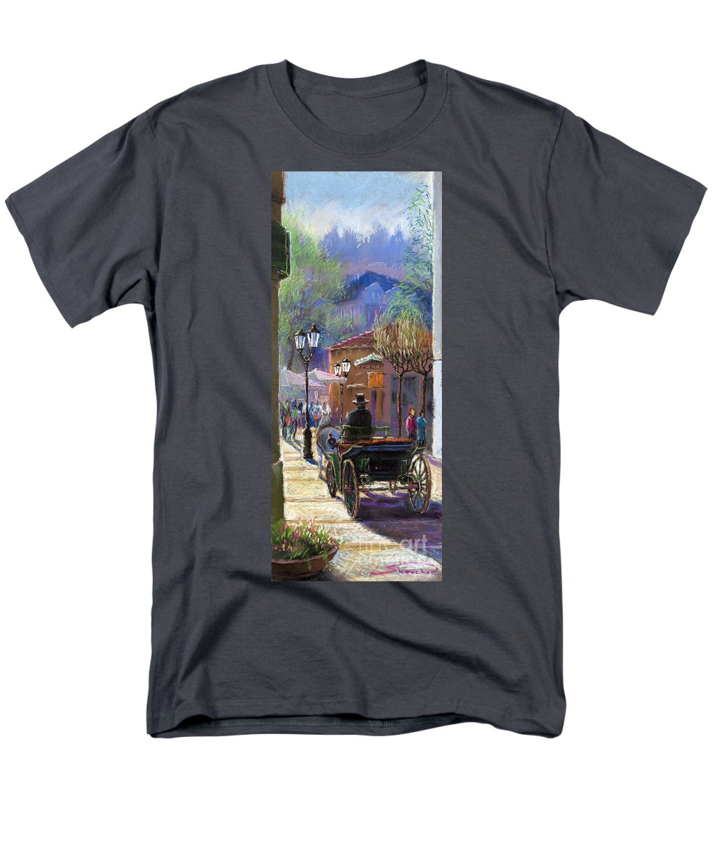 Pastel Men's T-Shirt (Regular Fit) featuring the painting Germany Baden-Baden Spring Ray by Yuriy Shevchuk