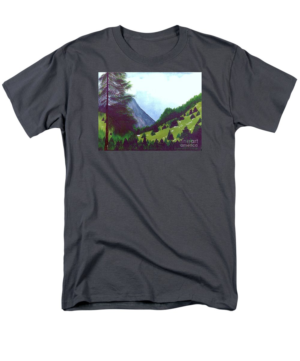 Original Painting Men's T-Shirt (Regular Fit) featuring the painting Heidi's Place by Patricia Griffin Brett