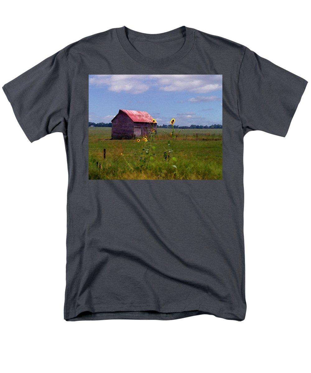Landscape Men's T-Shirt (Regular Fit) featuring the photograph Kansas Landscape by Steve Karol