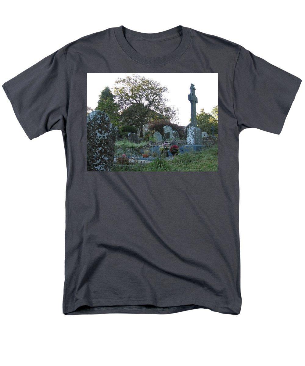 Graveyard Men's T-Shirt (Regular Fit) featuring the photograph Kilmokea Graveyard by Kelly Mezzapelle