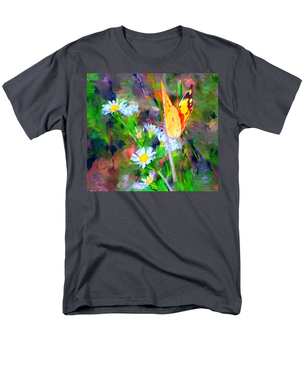 Landscape Men's T-Shirt (Regular Fit) featuring the painting Last of the season by David Lane