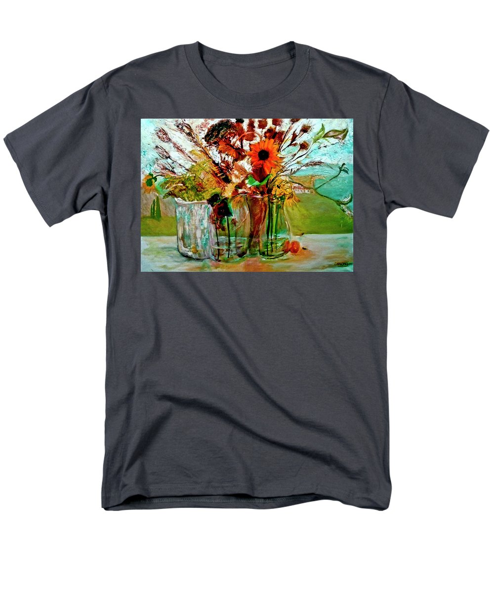 Prints Men's T-Shirt (Regular Fit) featuring the painting Late Summer by Jack Diamond