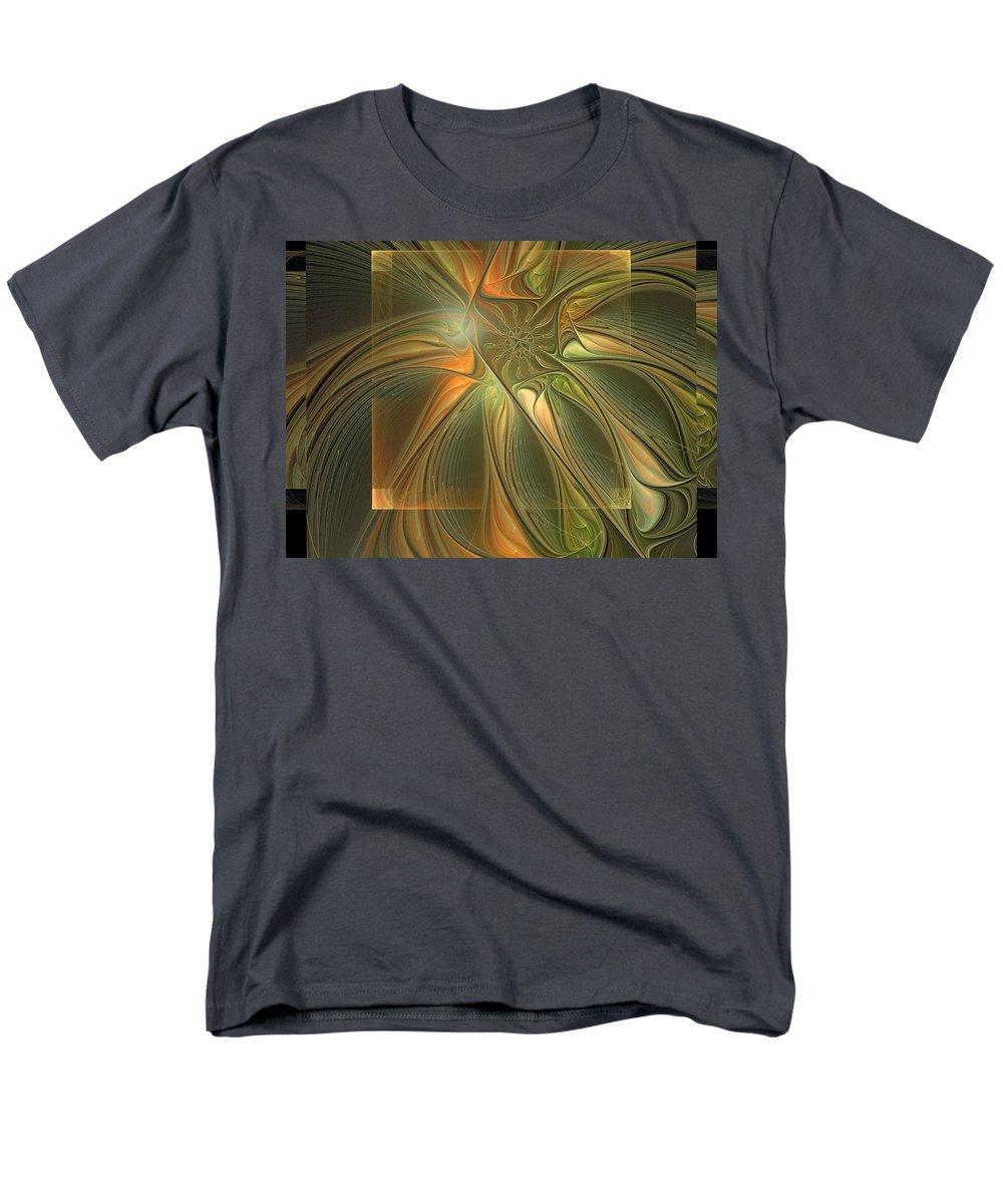 Digital Art Men's T-Shirt (Regular Fit) featuring the digital art Layers by Amanda Moore