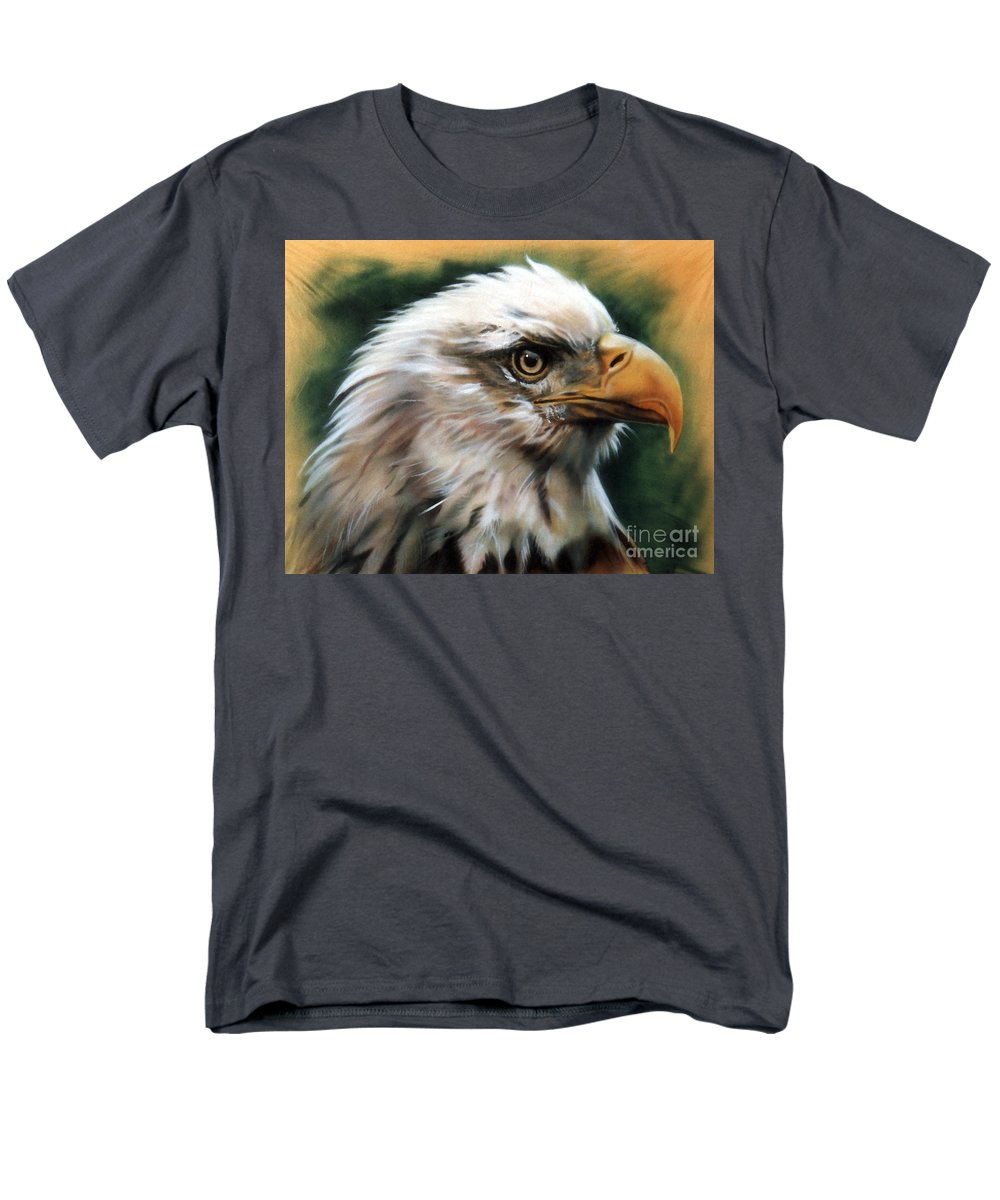 Southwest Art Men's T-Shirt (Regular Fit) featuring the painting Leather Eagle by J W Baker