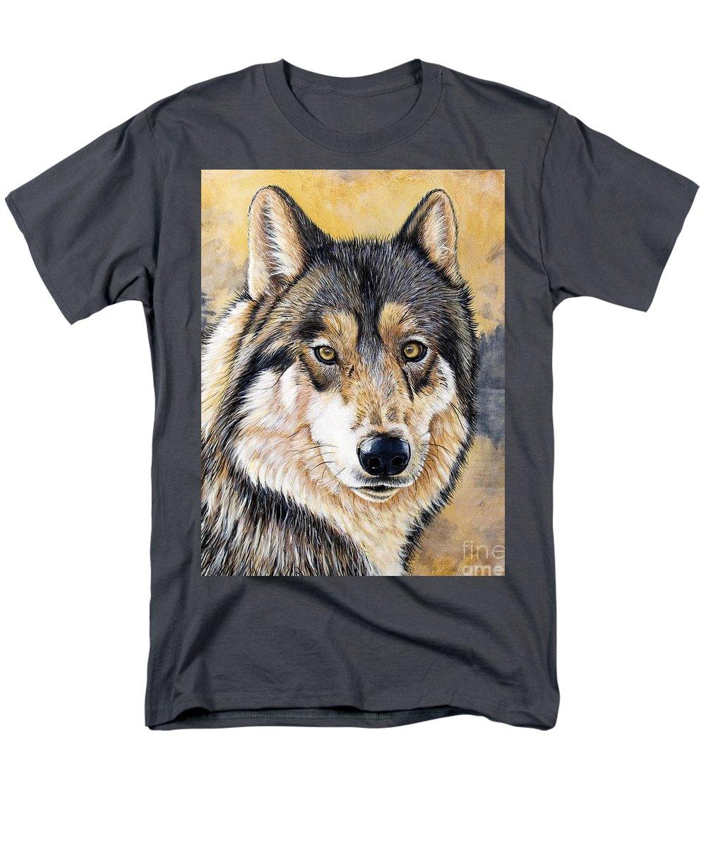 Acrylics Men's T-Shirt (Regular Fit) featuring the painting Loki by Sandi Baker