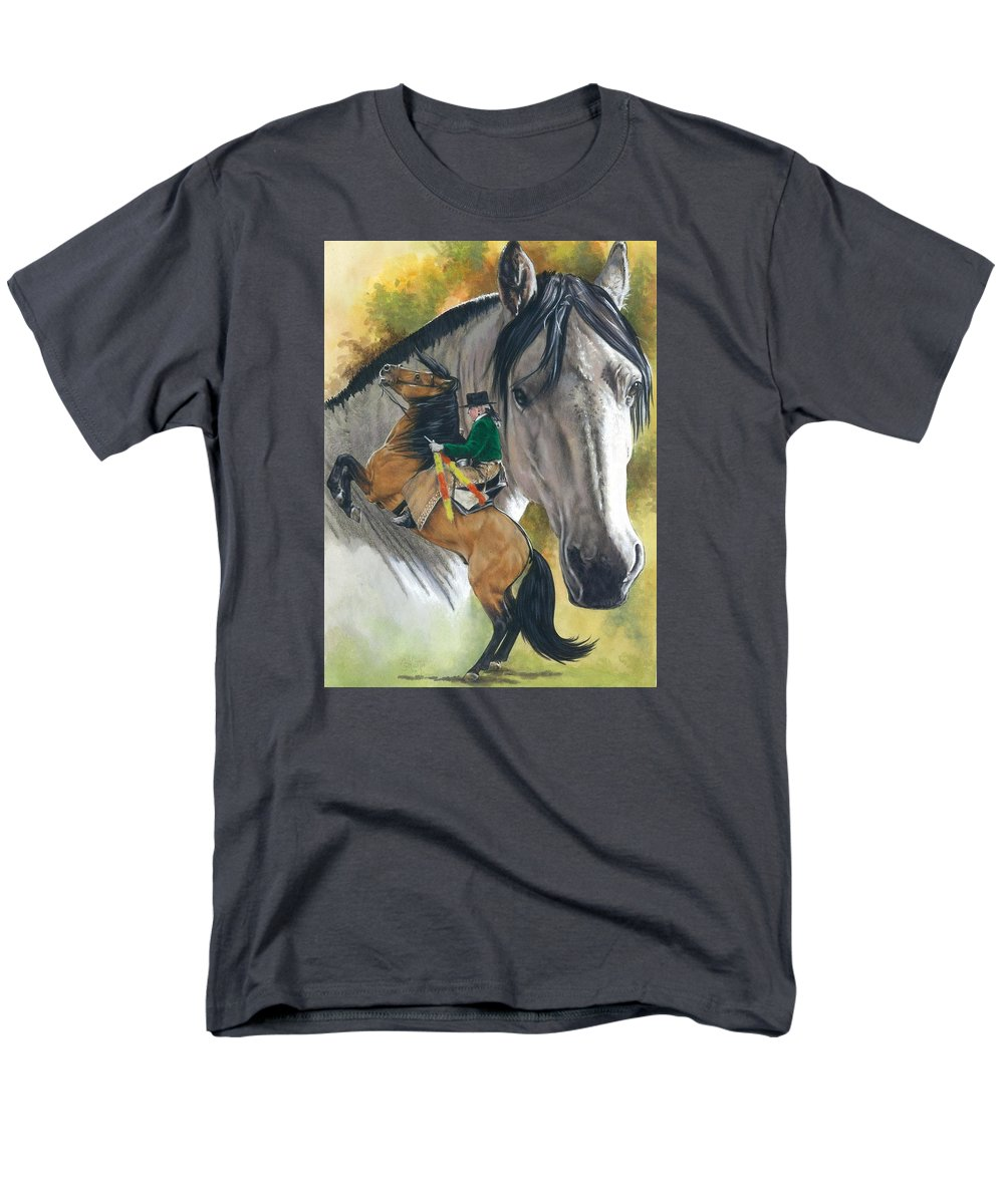 Hoof Stock Men's T-Shirt (Regular Fit) featuring the mixed media Lusitano by Barbara Keith