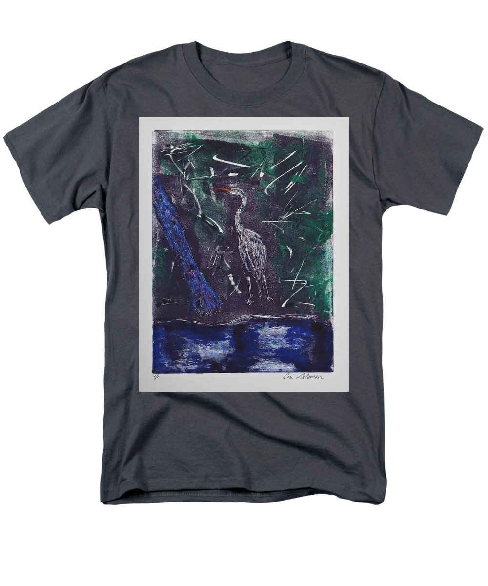 Monotype Men's T-Shirt (Regular Fit) featuring the mixed media Marsh Magic by Cori Solomon