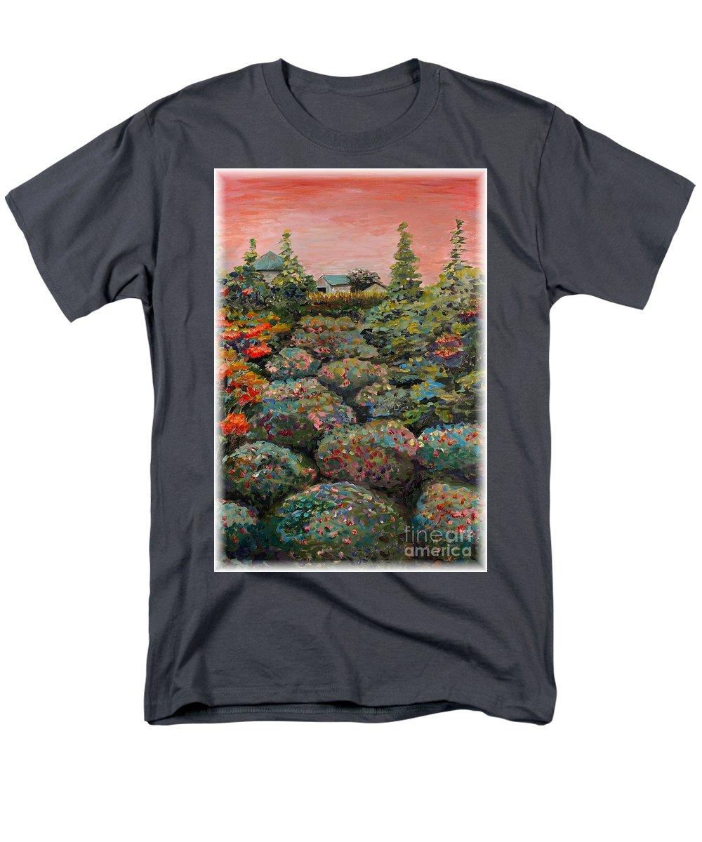 Minnesota Men's T-Shirt (Regular Fit) featuring the painting Minnesota Memories by Nadine Rippelmeyer