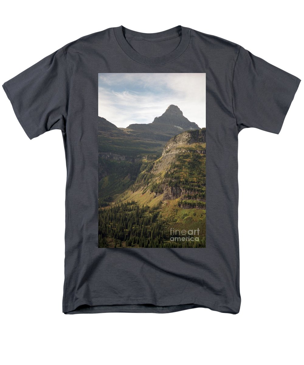 Glacier Men's T-Shirt (Regular Fit) featuring the photograph Mountain Glacier by Richard Rizzo