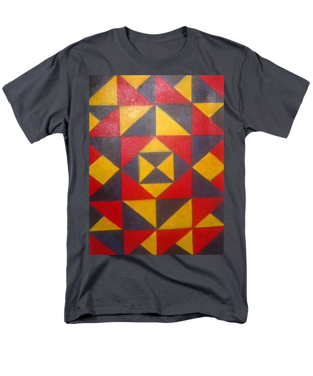 Abstract Men's T-Shirt (Regular Fit) featuring the painting Mountian Woman by Andrew Johnson