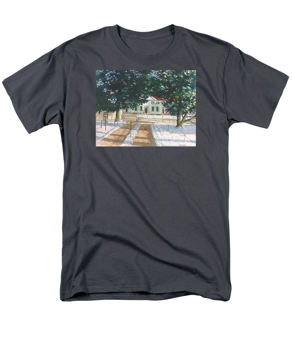 Landscape Men's T-Shirt (Regular Fit) featuring the painting Mt. Vernon after the visitors have all gone home by Tom Harris