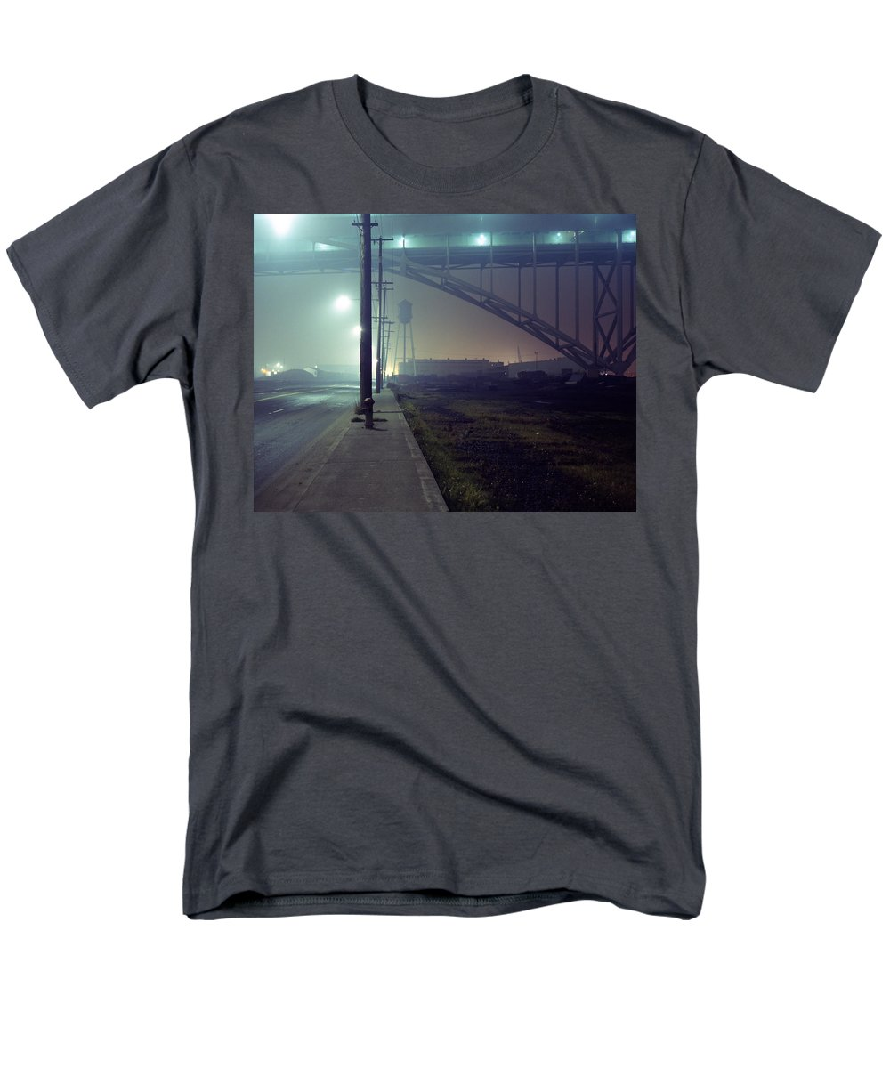 Night Photo Men's T-Shirt (Regular Fit) featuring the photograph Nightscape 2 by Lee Santa
