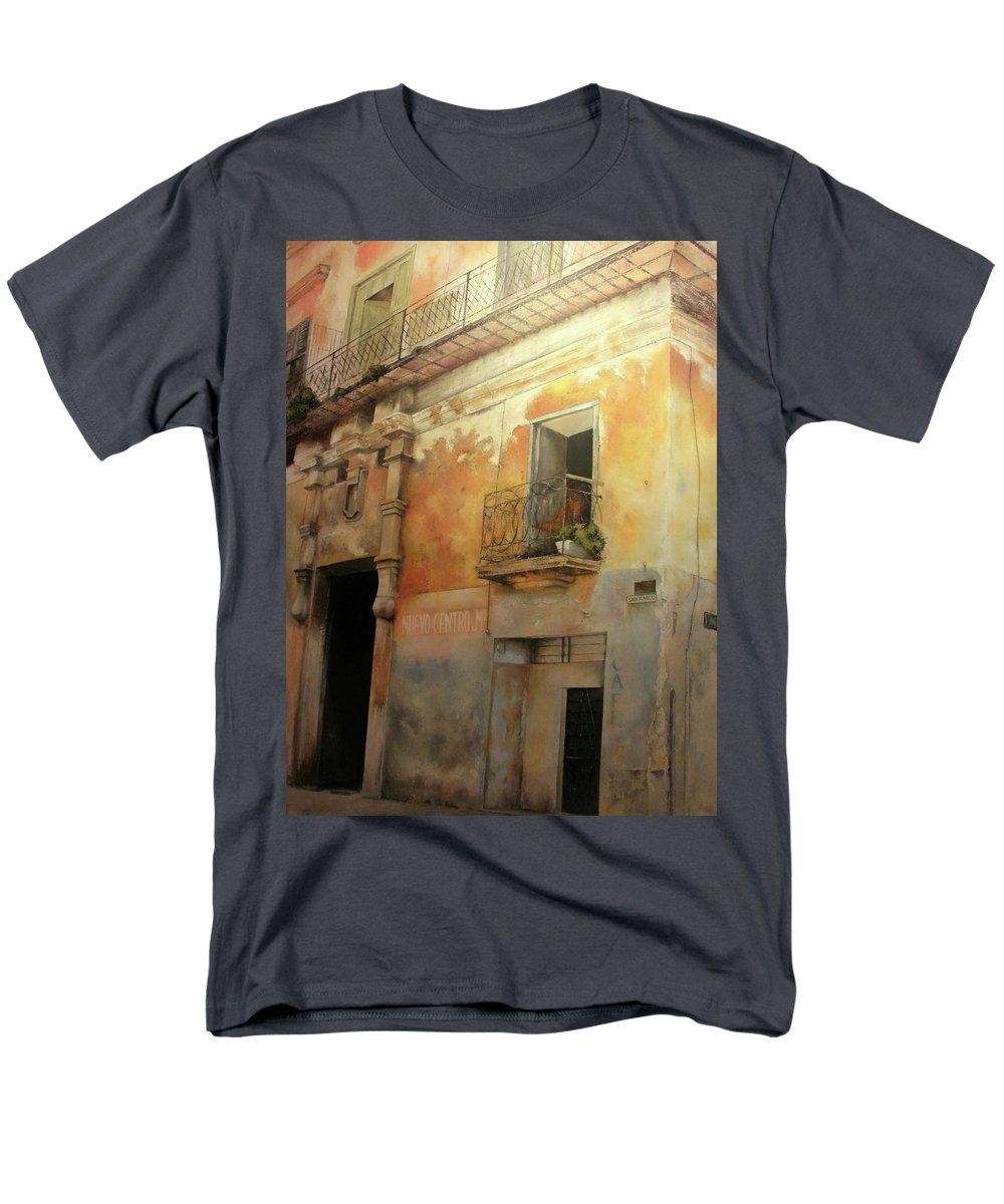Havana Cuba Men's T-Shirt (Regular Fit) featuring the painting Old Havana by Tomas Castano