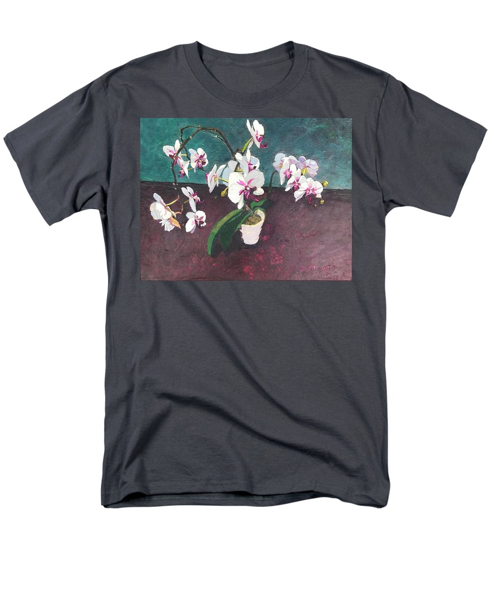 Recycled Men's T-Shirt (Regular Fit) featuring the mixed media Reaching by Leah Tomaino
