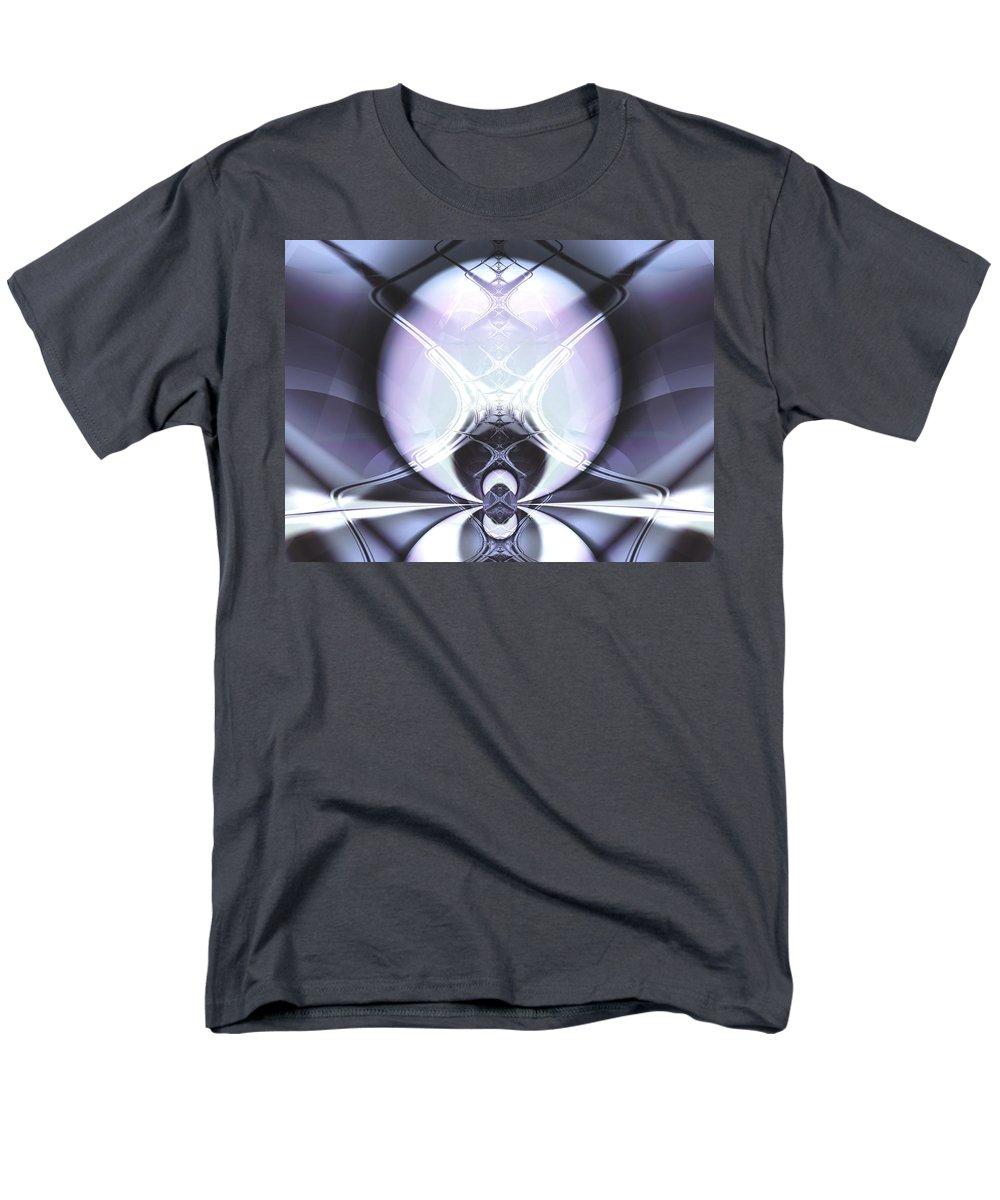 Digital Art Men's T-Shirt (Regular Fit) featuring the digital art Reflecting Gateway by Frederic Durville