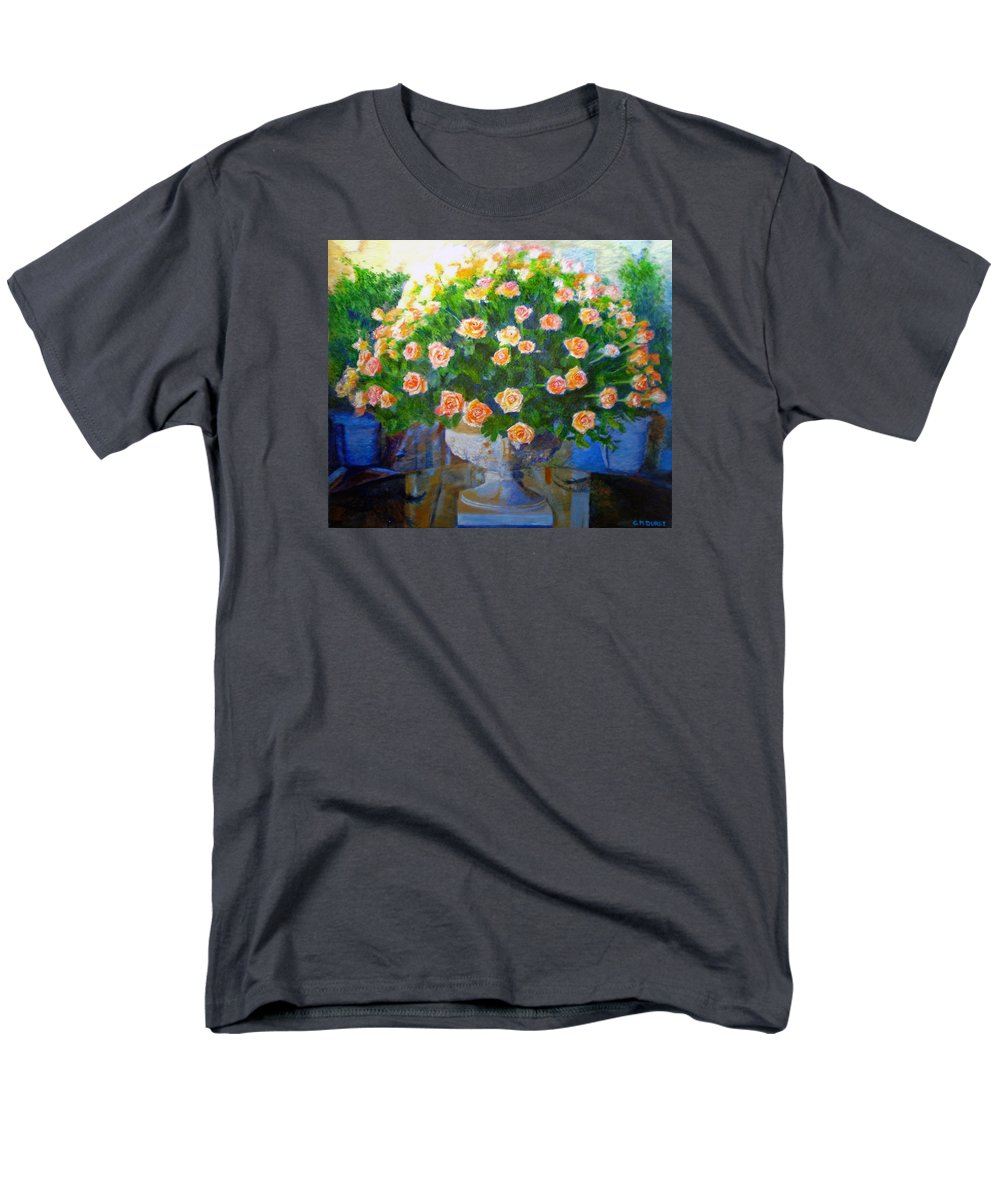 Rose Men's T-Shirt (Regular Fit) featuring the painting Roses at Table Bay by Michael Durst