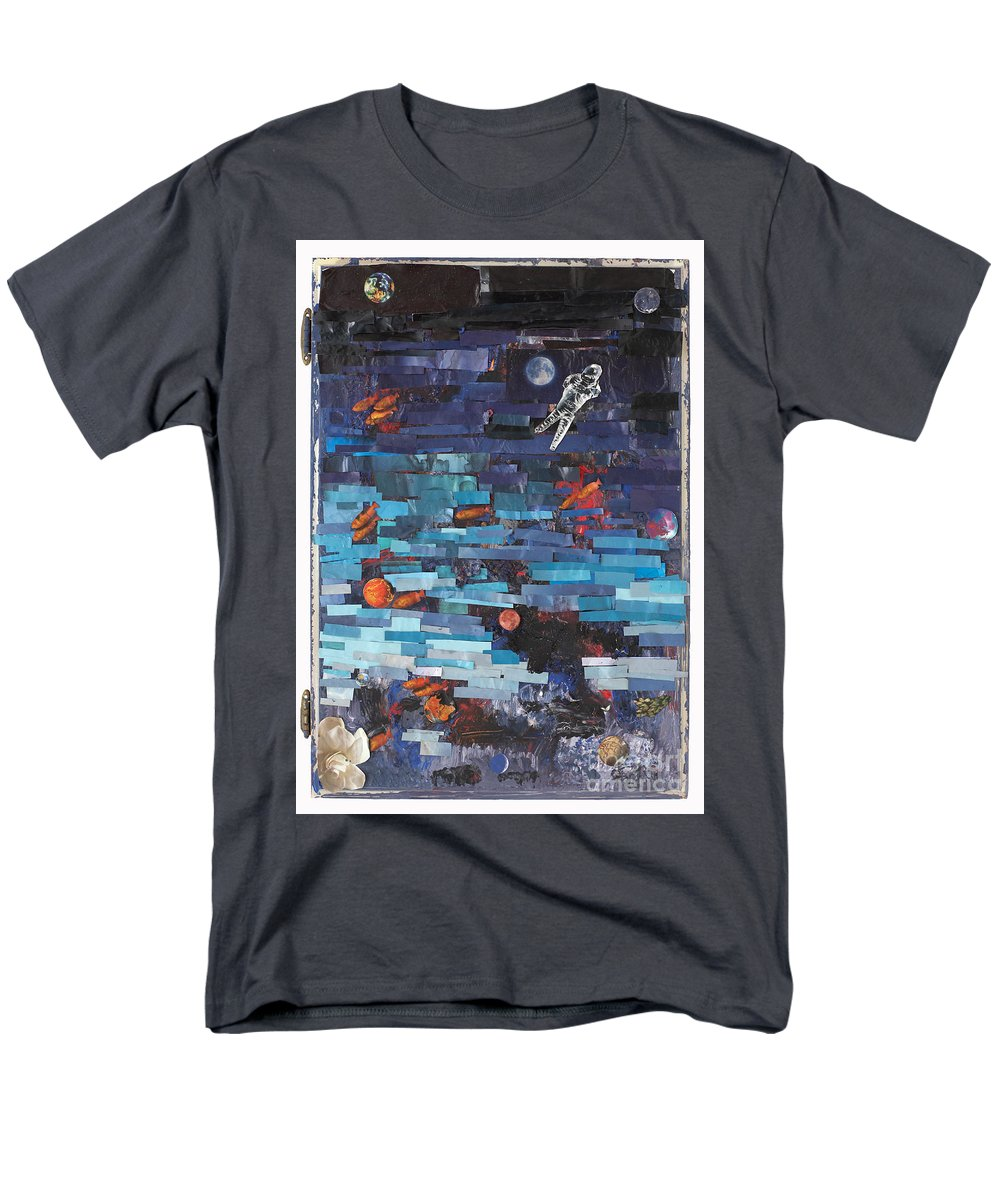 Astronaut Men's T-Shirt (Regular Fit) featuring the mixed media Sea Space by Jaime Becker