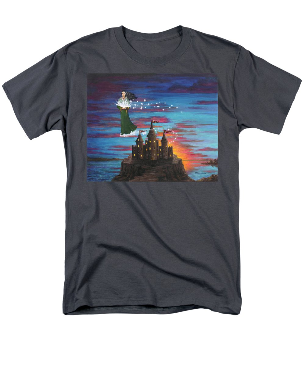Wizard Men's T-Shirt (Regular Fit) featuring the digital art Sky Walker by Roz Eve