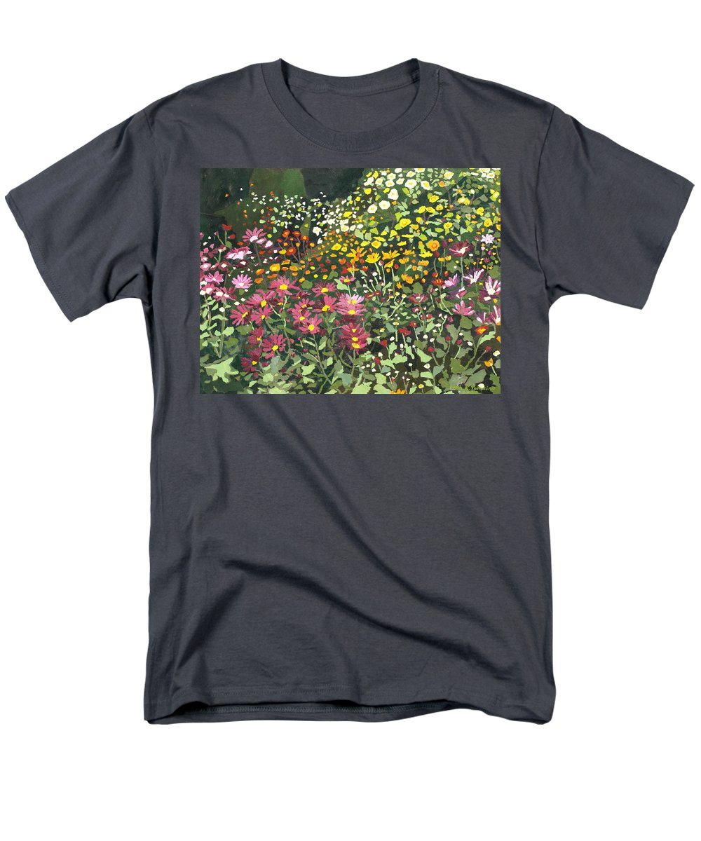 Floral Men's T-Shirt (Regular Fit) featuring the painting Smith Mums by Leah Tomaino