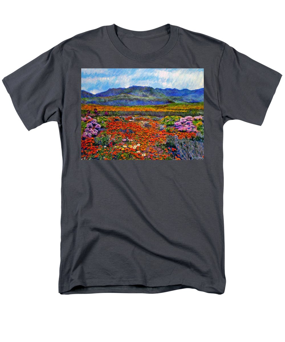 Spring Men's T-Shirt (Regular Fit) featuring the painting Spring in Namaqualand by Michael Durst