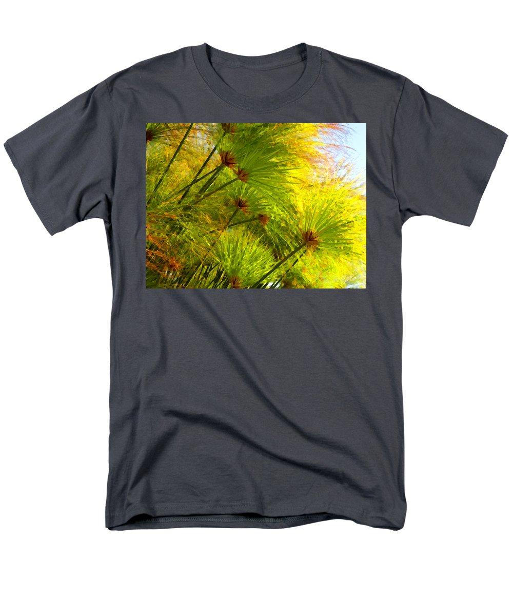 Landscape Men's T-Shirt (Regular Fit) featuring the painting Sunlit Paparus by Amy Vangsgard