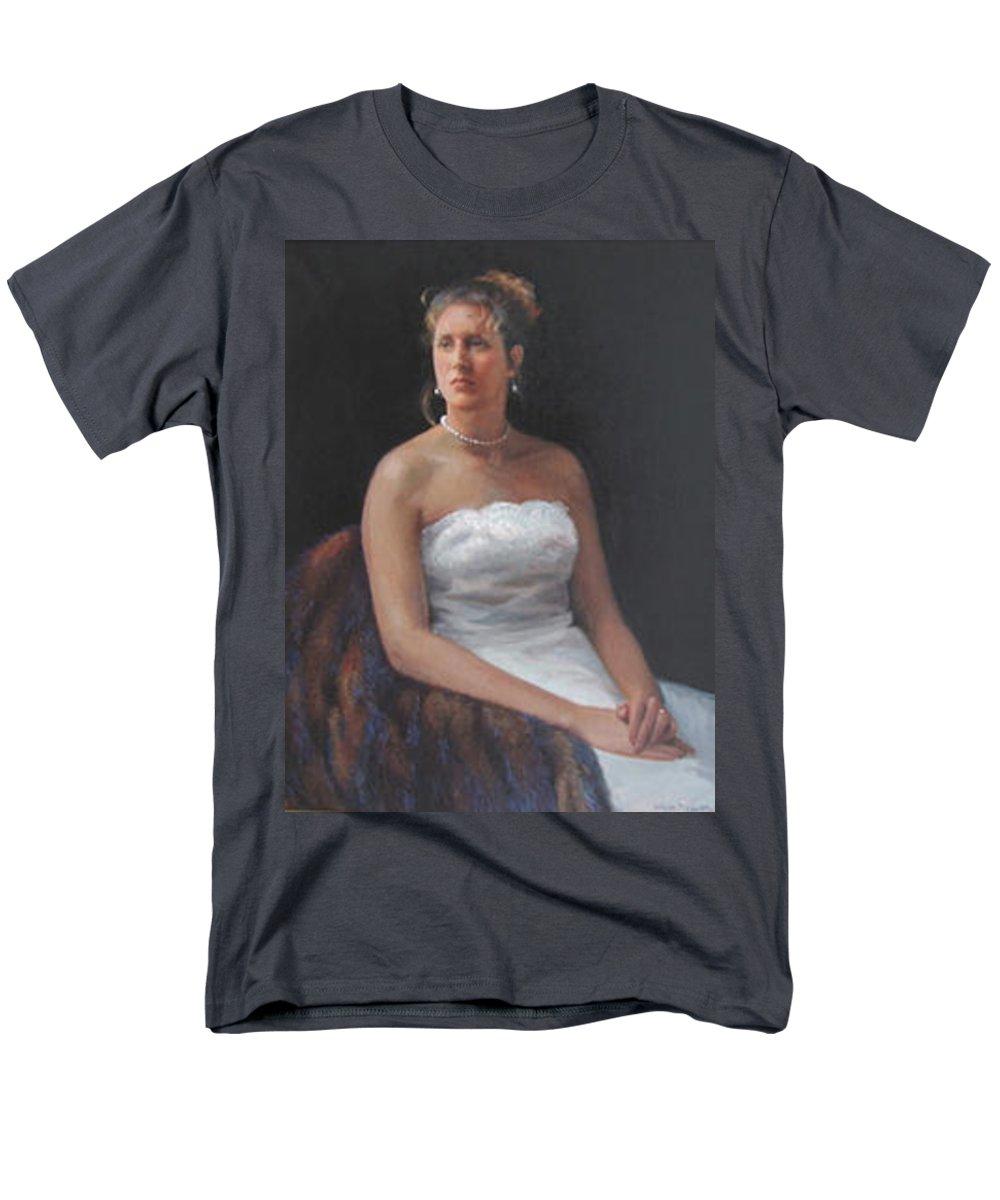 Formal Portrait Men's T-Shirt (Regular Fit) featuring the painting The Bride by Dianne Panarelli Miller
