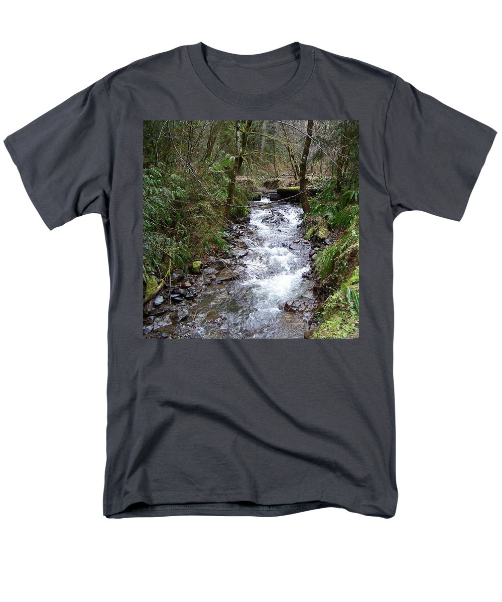 Digital Photography Men's T-Shirt (Regular Fit) featuring the photograph The Creek by Laurie Kidd