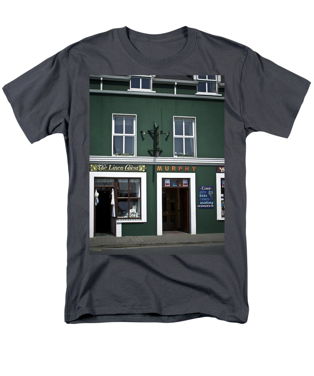 Irish Men's T-Shirt (Regular Fit) featuring the photograph The Linen Chest Dingle Ireland by Teresa Mucha