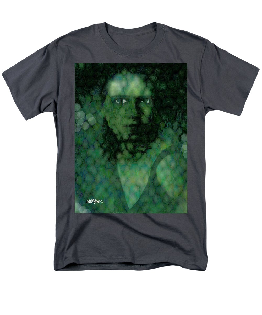 Bizarre Men's T-Shirt (Regular Fit) featuring the digital art The Snake Lady by Seth Weaver