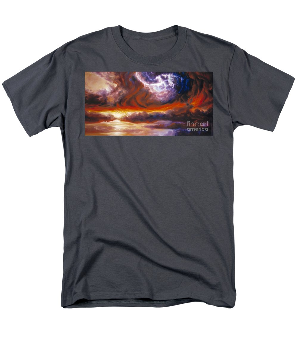 Tempest Men's T-Shirt (Regular Fit) featuring the painting The Tempest by James Christopher Hill