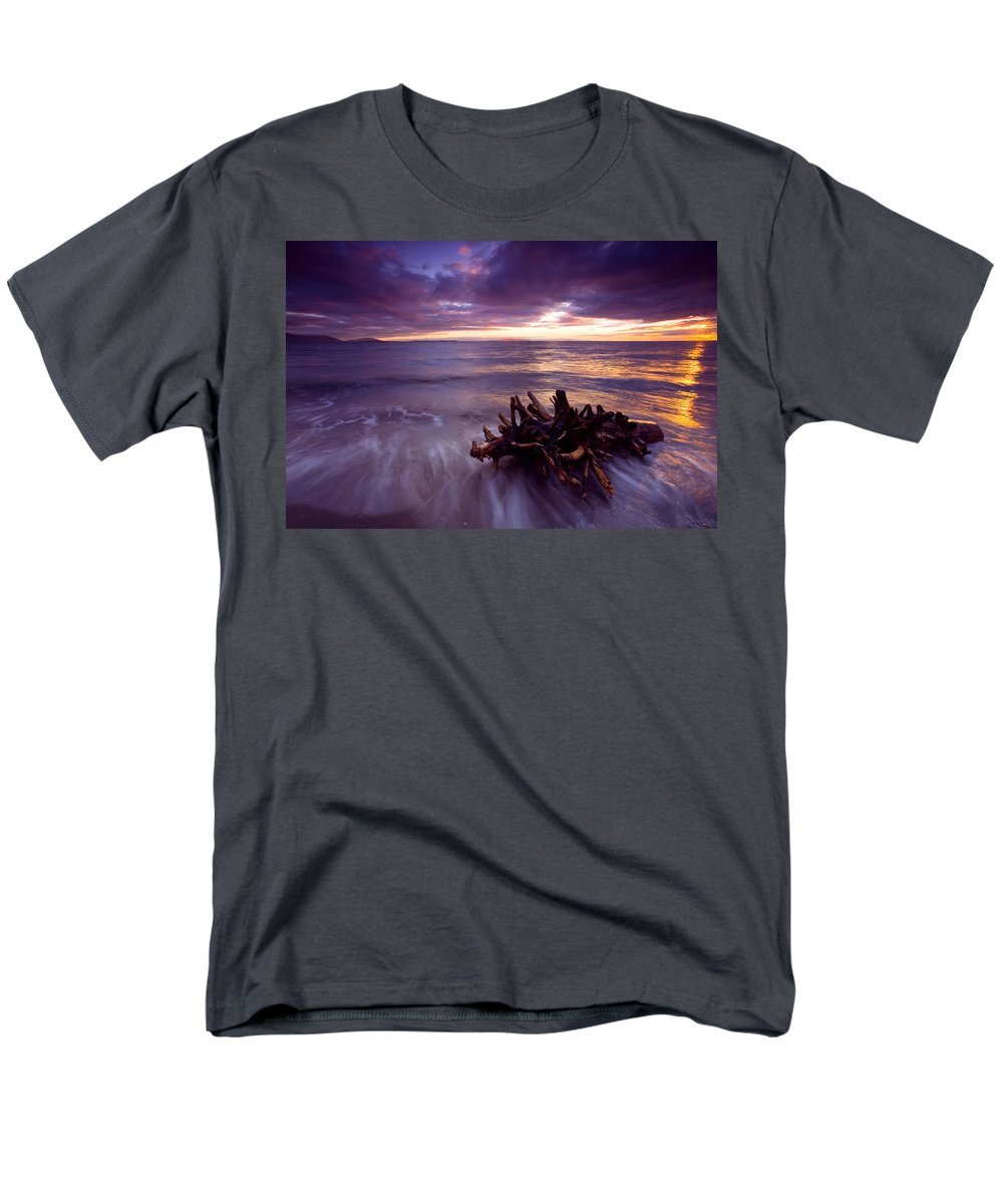 Sunset Men's T-Shirt (Regular Fit) featuring the photograph Tide Driven by Mike Dawson