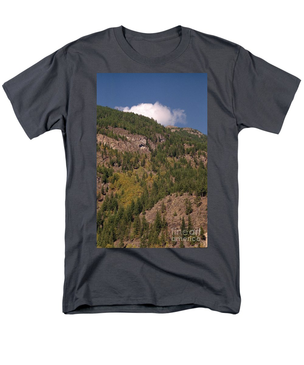 Mountains Men's T-Shirt (Regular Fit) featuring the photograph Touching the Clouds by Richard Rizzo