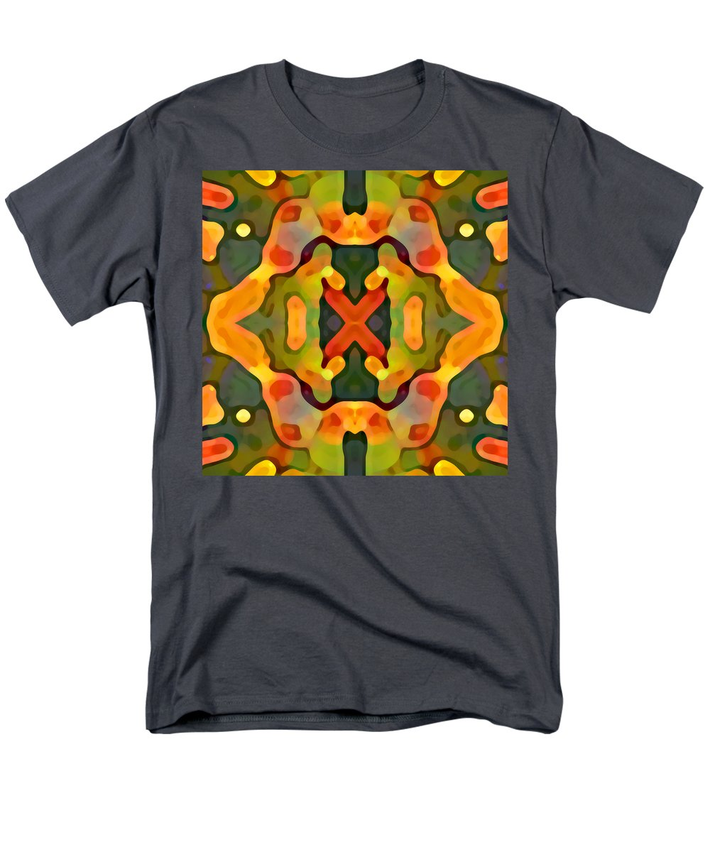 Abstract Men's T-Shirt (Regular Fit) featuring the painting Treasure by Amy Vangsgard