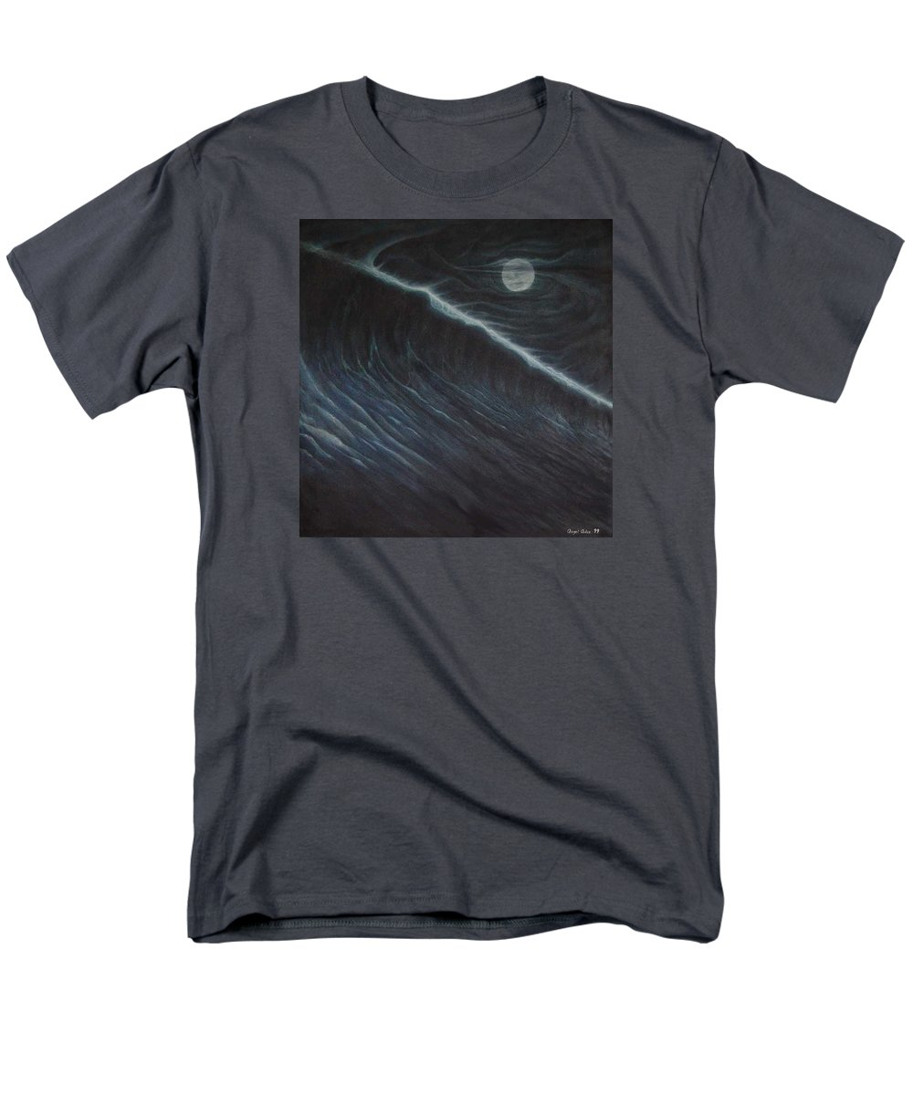Seascapes Men's T-Shirt (Regular Fit) featuring the painting Tsunami by Angel Ortiz