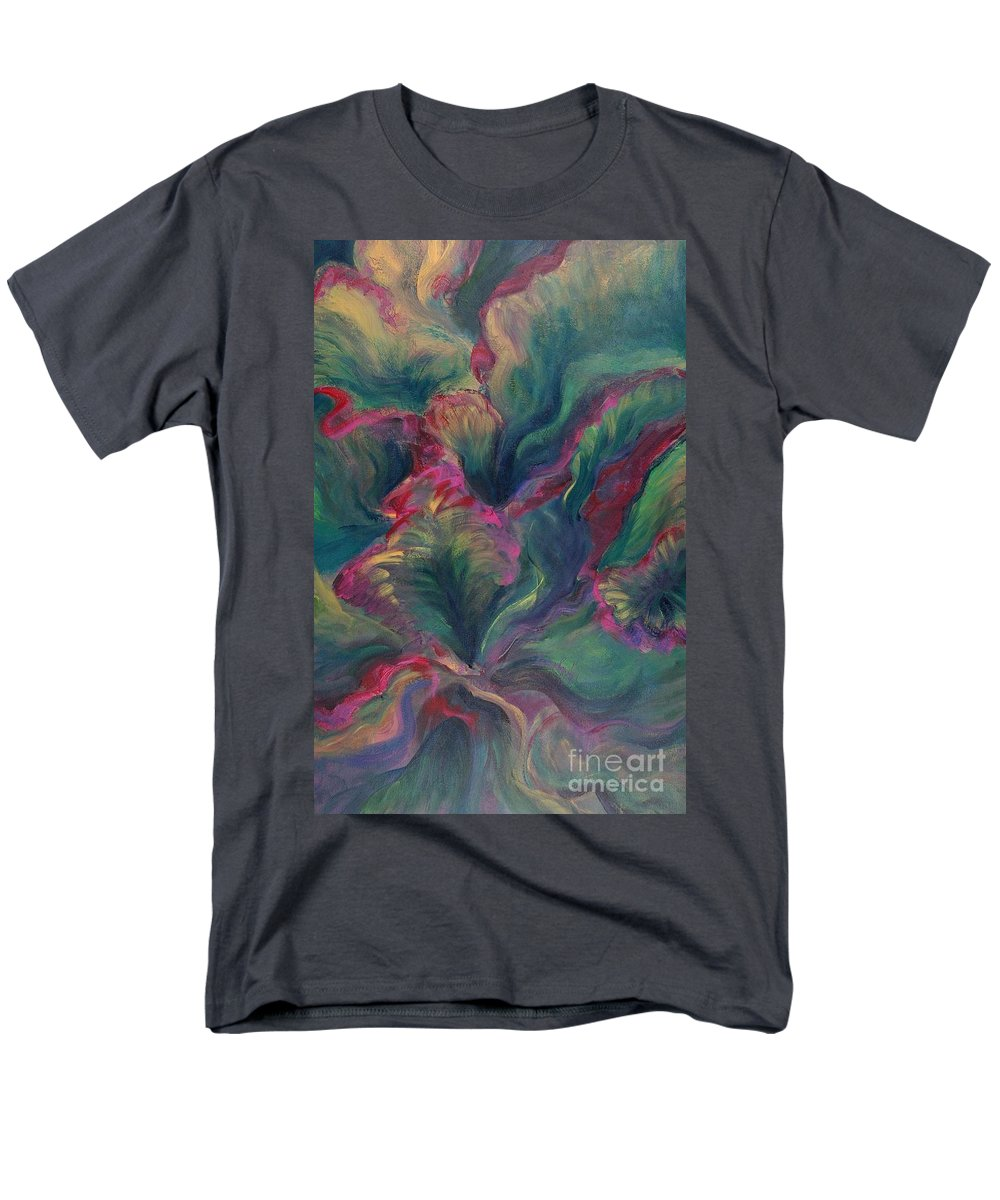 Leaves Men's T-Shirt (Regular Fit) featuring the painting Vibrant Leaves by Nadine Rippelmeyer