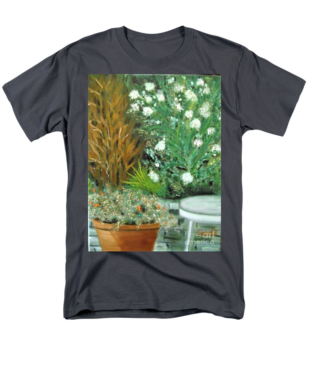 Plein Air Men's T-Shirt (Regular Fit) featuring the painting Virginia's Garden by Laurie Morgan