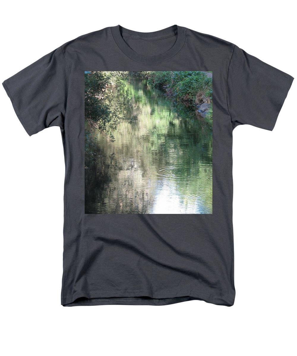 Reflection Men's T-Shirt (Regular Fit) featuring the photograph Water Color by Kelly Mezzapelle