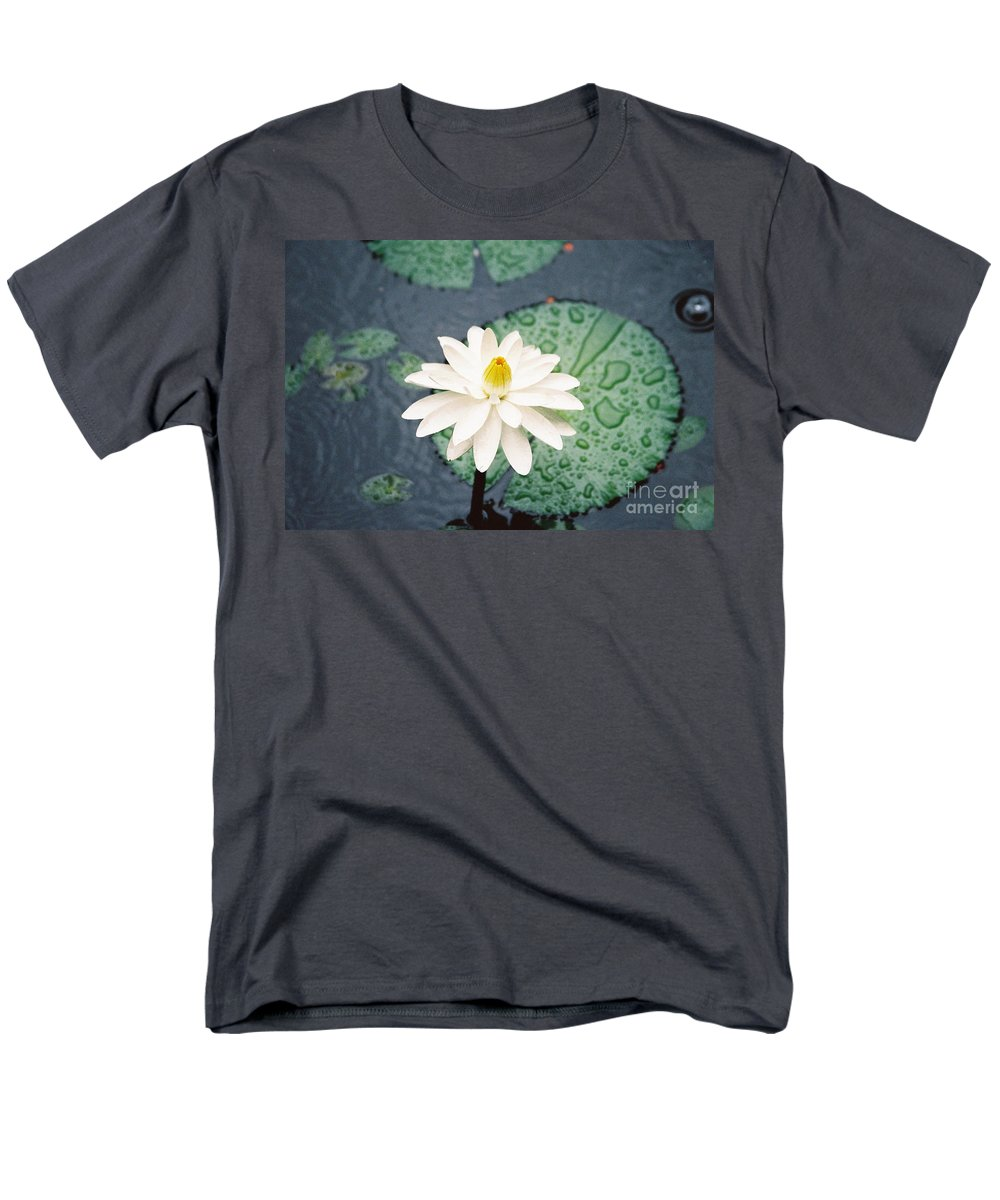 Flowers Men's T-Shirt (Regular Fit) featuring the photograph Water Lily by Kathy McClure