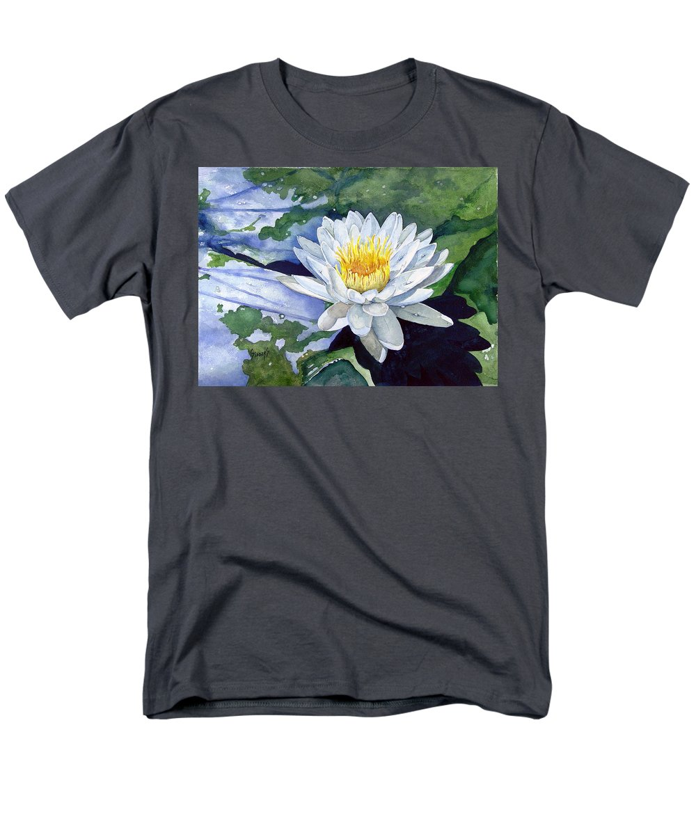 Flower Men's T-Shirt (Regular Fit) featuring the painting Water Lily by Sam Sidders