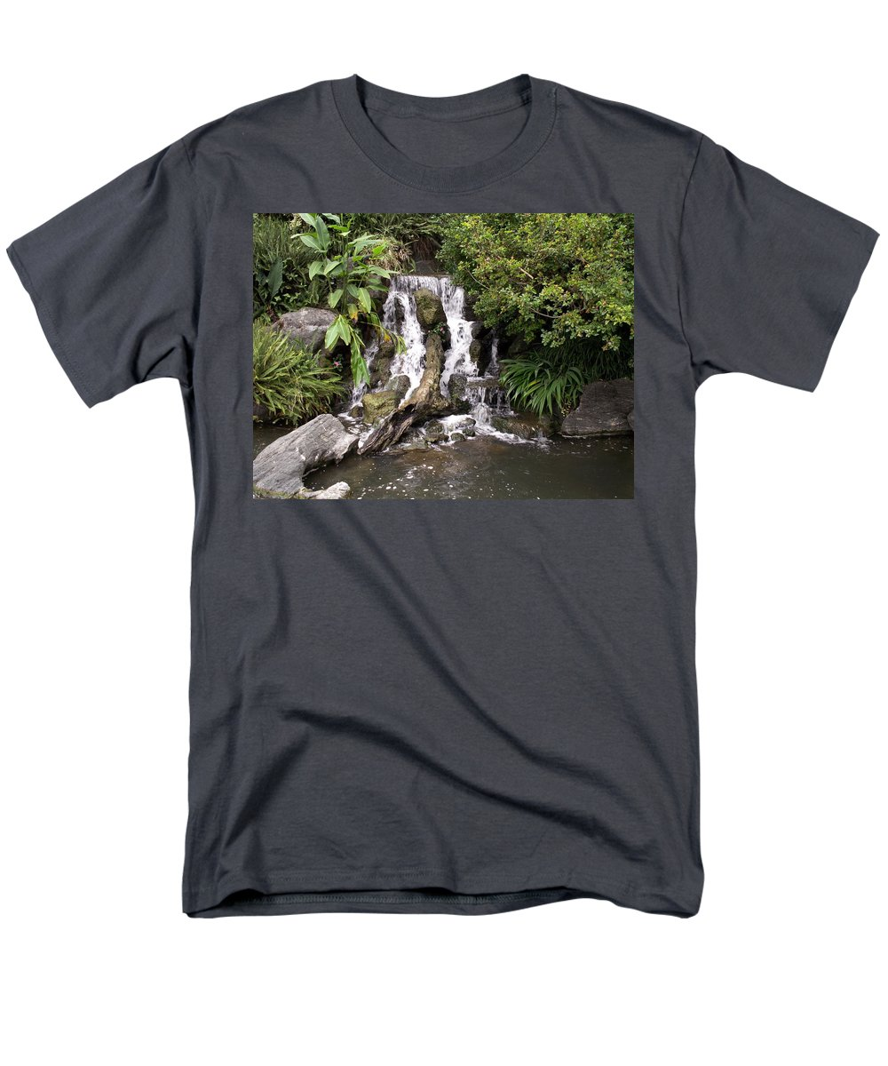 Water Men's T-Shirt (Regular Fit) featuring the photograph Waterfall by Amy Fose