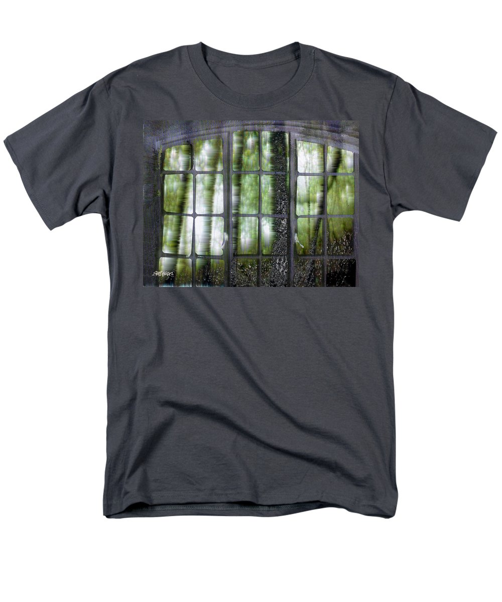 Window On The Woods Men's T-Shirt (Regular Fit) featuring the digital art Window on the Woods by Seth Weaver