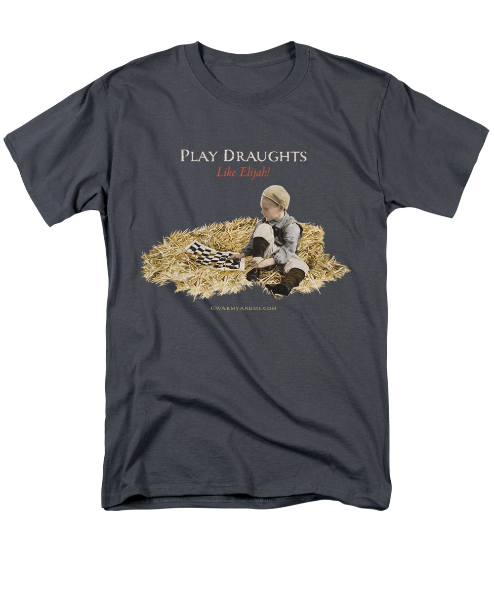 Draughts Men's T-Shirt (Regular Fit) featuring the painting Play Draughts Like Elijah by 18th Century Slang