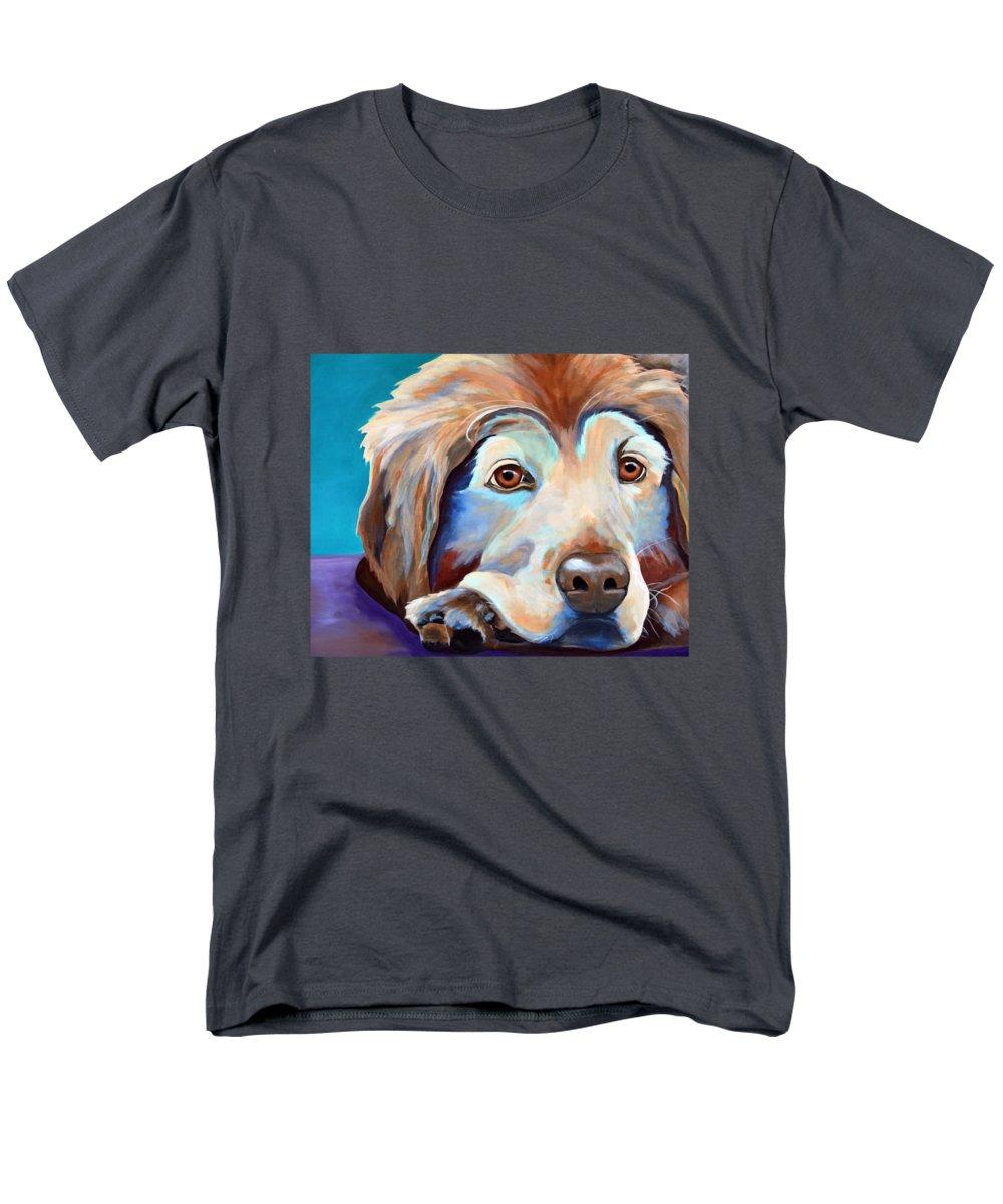 Golden Men's T-Shirt (Regular Fit) featuring the painting Relaxing Golden Retriever T-shirt by Jody Wright