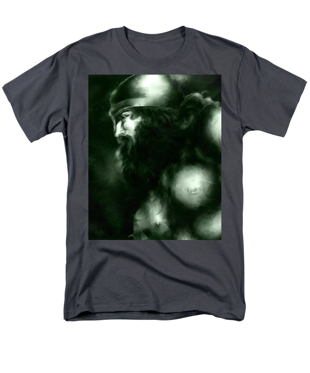 Thor Men's T-Shirt (Regular Fit) featuring the mixed media Thor by Curtiss Shaffer