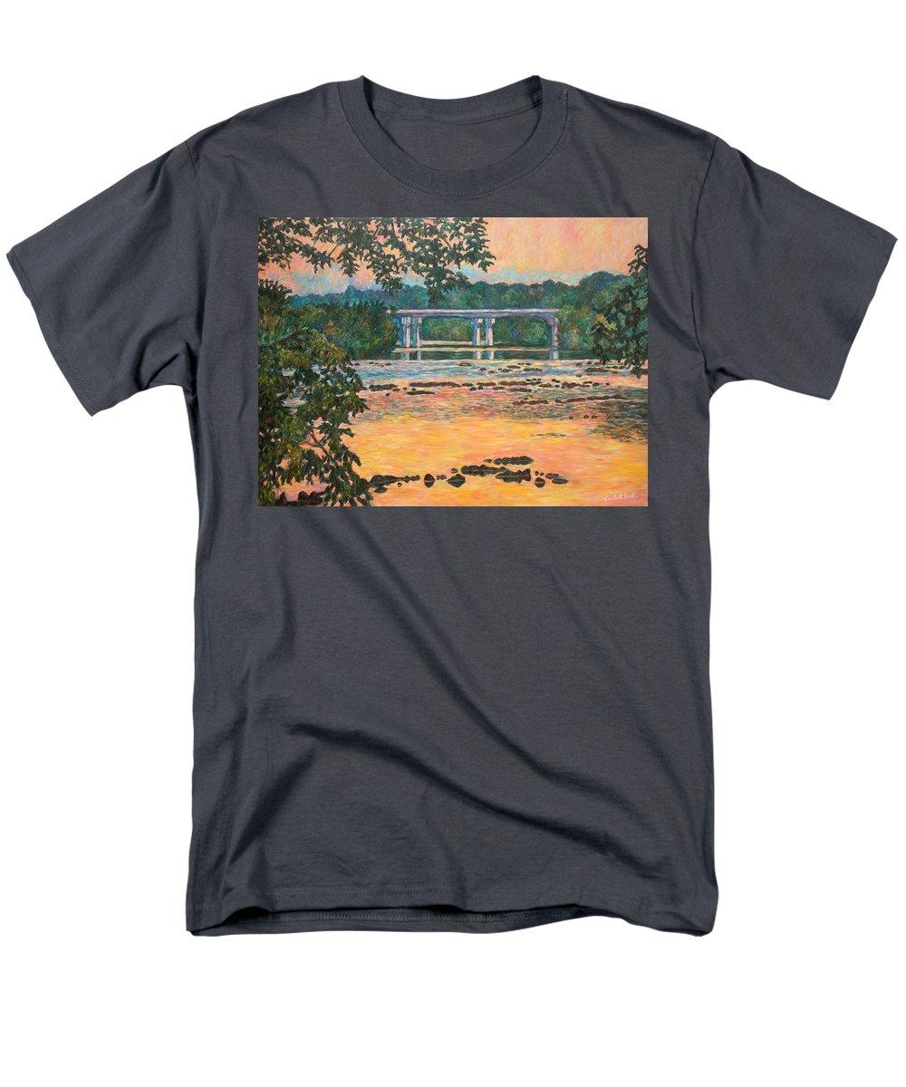 Landscape Men's T-Shirt (Regular Fit) featuring the painting New Memorial Bridge at Dusk by Kendall Kessler