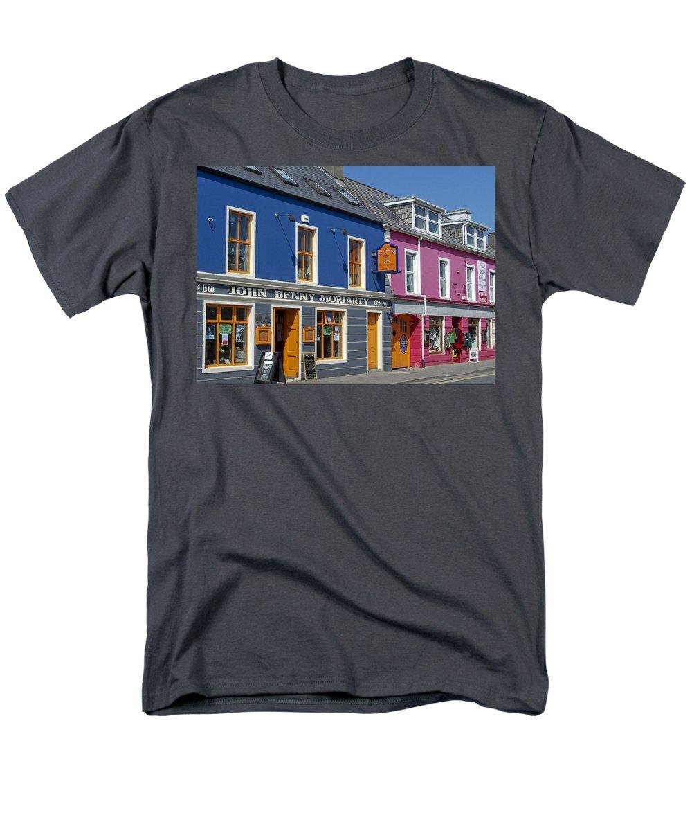 Irish Men's T-Shirt (Regular Fit) featuring the photograph Strand Street in Dingle Ireland by Teresa Mucha