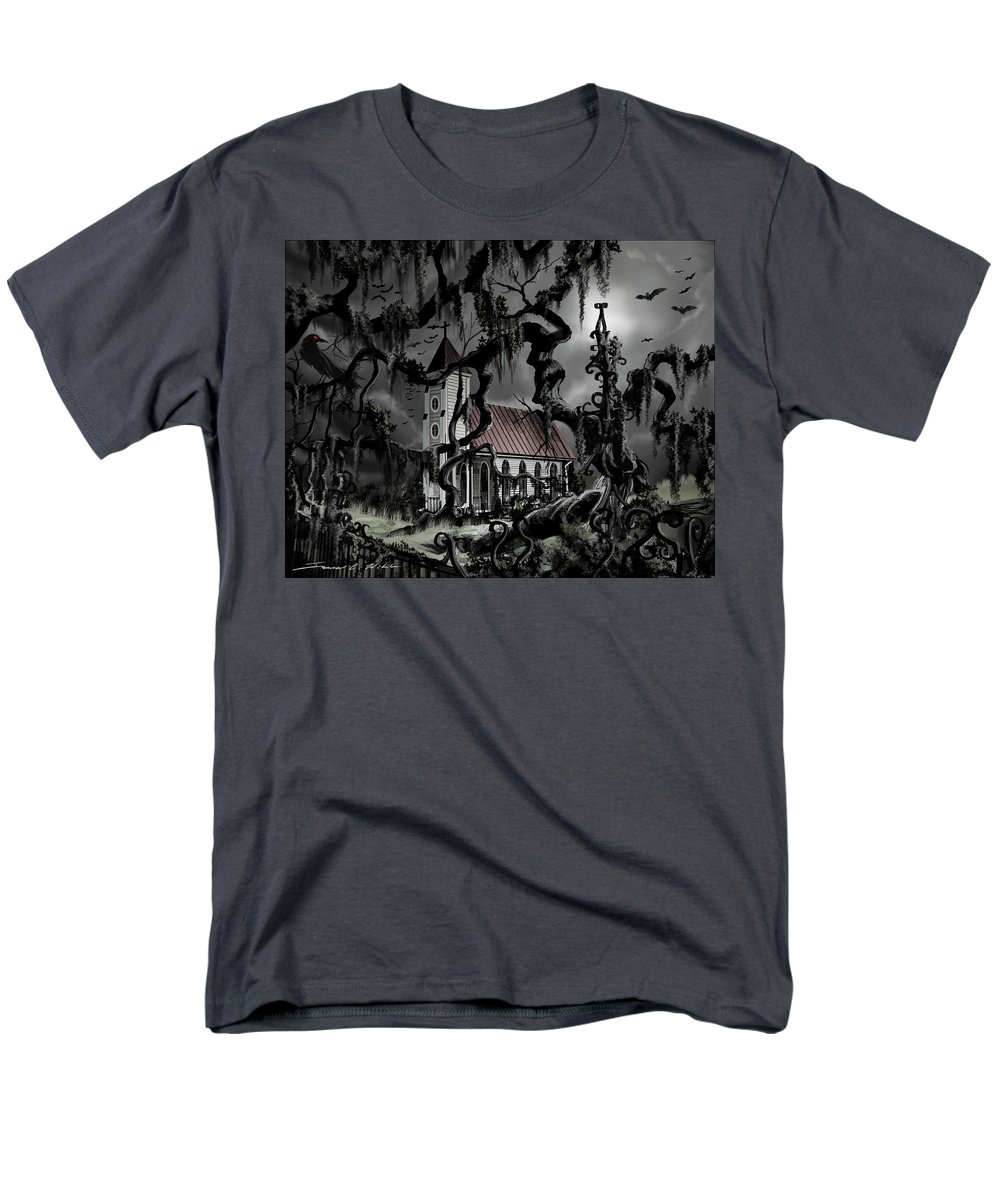 James Christopher Hill Men's T-Shirt (Regular Fit) featuring the painting The Mortuary by James Christopher Hill