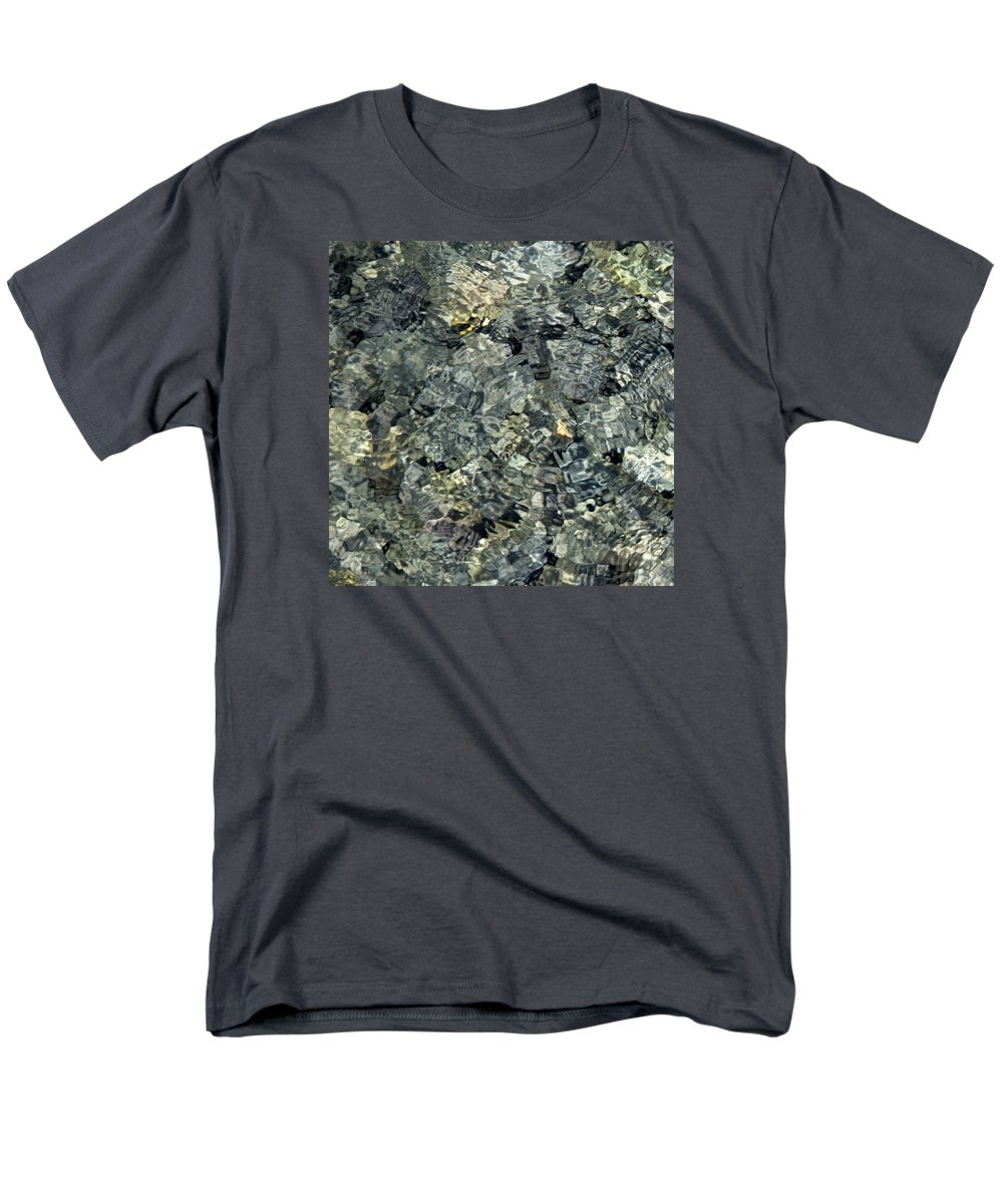 Water Men's T-Shirt (Regular Fit) featuring the photograph Water Rocks 1 by Andre Aleksis
