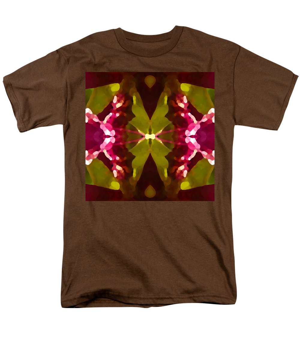 Contemporary Men's T-Shirt (Regular Fit) featuring the painting Abstract Crystal Butterfly by Amy Vangsgard